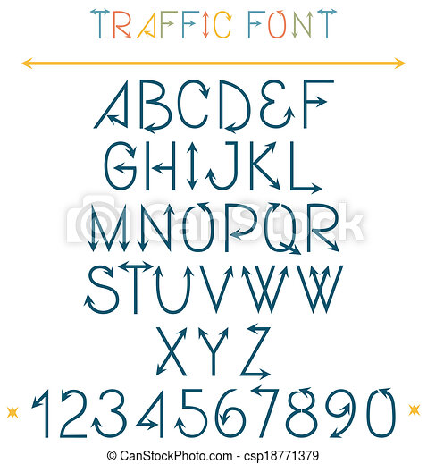Easy Traffic Drawing Traffic Font Letters