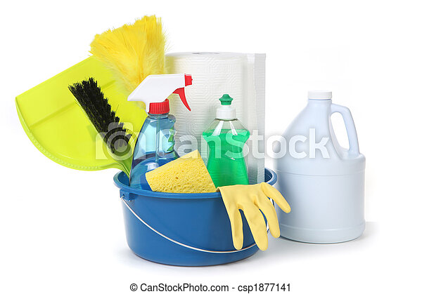 Cleaning Supplies for the Household - csp1877141