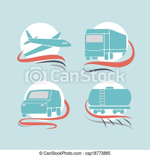 Transportation icons set - csp18773885
