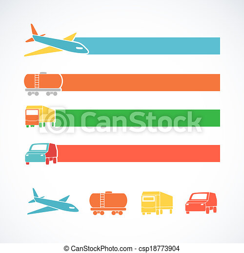 Transportation ribbons set - csp18773904