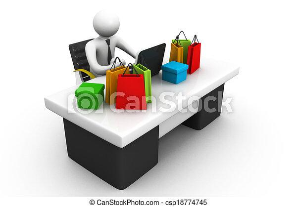 Dessin de achat business fonctionnement bureau for Achat de bureau en ligne