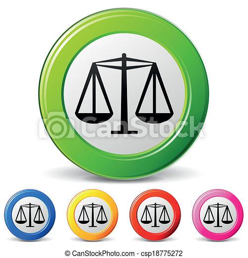 矢量, 法律, 图标 - csp18775272