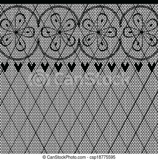 Vector - Lace Pattern - stock illustration, royalty free illustrations ...