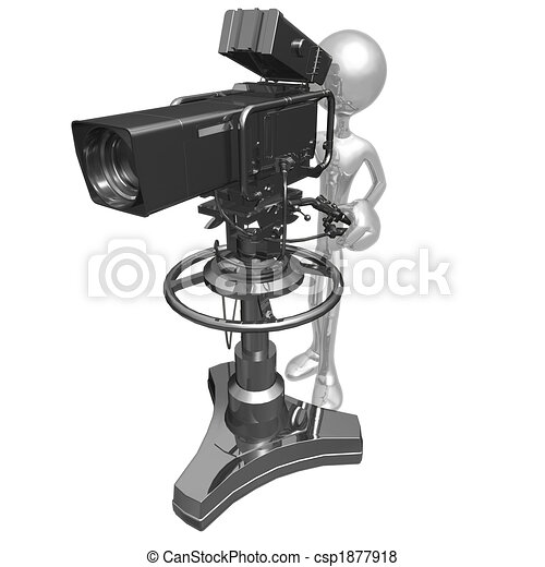 Studio Television Camera - csp1877918