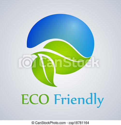 clip art vecteur de eco produit amical eco amical produit vert csp18781164. Black Bedroom Furniture Sets. Home Design Ideas