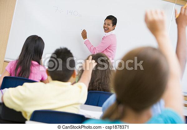 Elementary school maths class - csp1878371