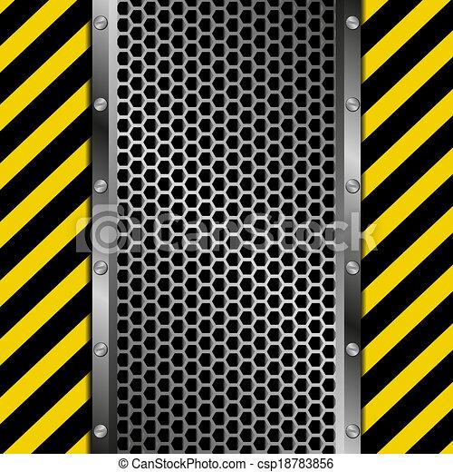 vecteur clipart de industriel fond grille fond jaune et noir bande csp18783856. Black Bedroom Furniture Sets. Home Design Ideas