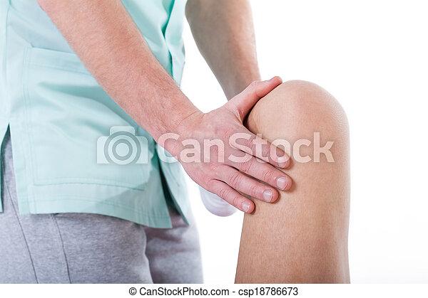 Knee rehabilitation closeup - csp18786673