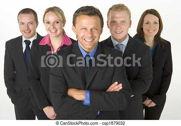 Team Of Business People Smiling - csp1879032