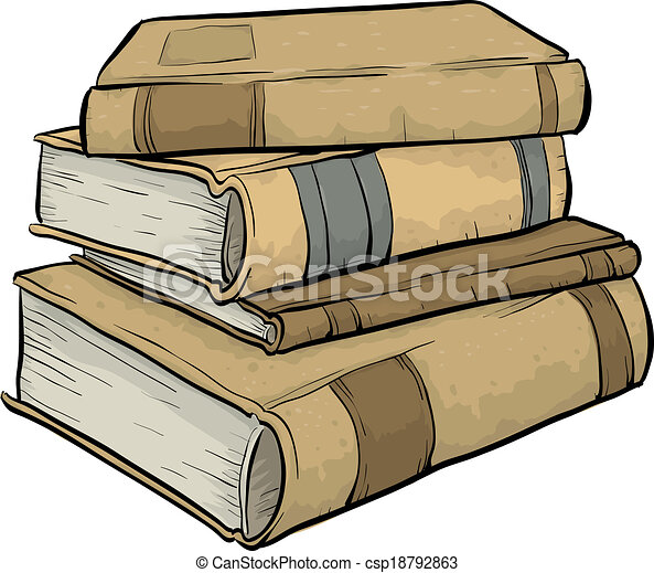 Clip Art Vector of Pile of Old - 59.6KB
