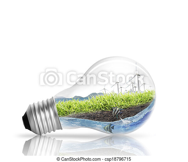light bulb Alternative energy concept - csp18796715