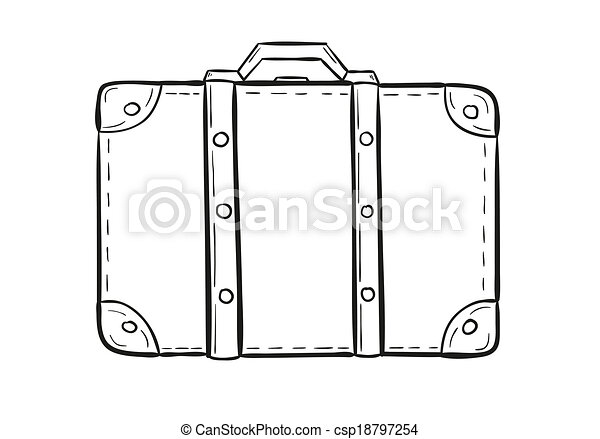 Vecteur clipart de croquis valise croquis de les - Dessin de valise ...