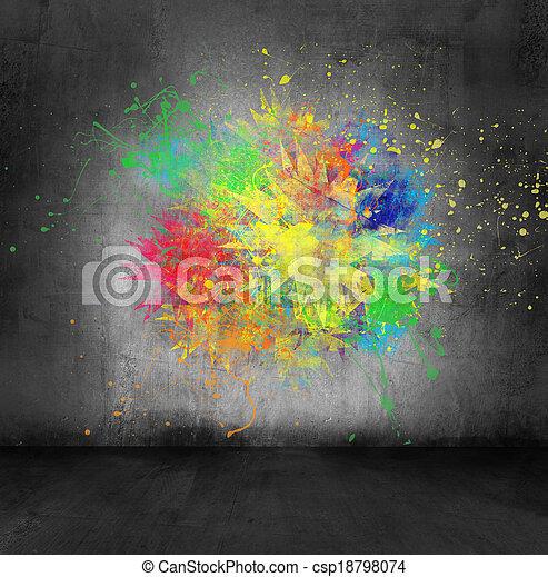 bilder von farbe wand spritzen beton farbe spritzen auf beton csp18798074 suchen. Black Bedroom Furniture Sets. Home Design Ideas
