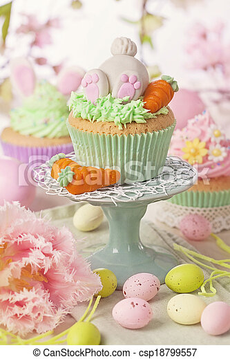 Easter cupcake - csp18799557
