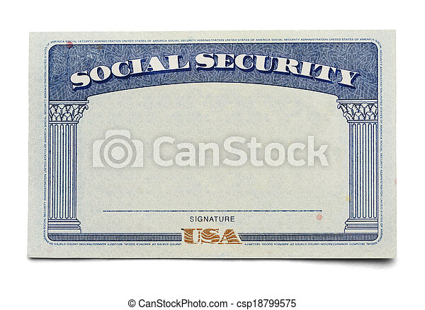 Social Security Card - csp18799575