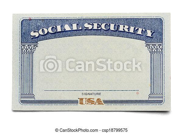 Social Security Card - csp18799575
