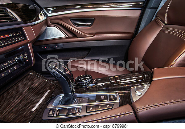Luxury car interior details - csp18799981