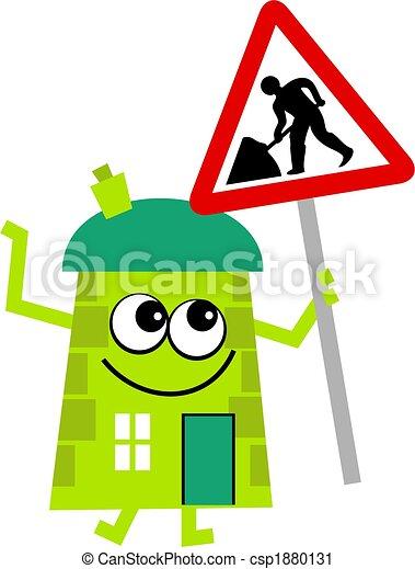 Clipart de maison entretien m maison tenue a route travaux csp18 - Travaux entretien maison ...