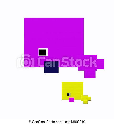 Purple sea mammal - csp18802219