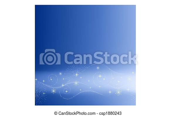 Festive blue background - csp1880243