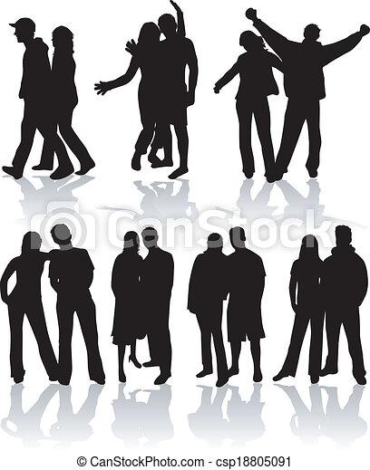 Couple people vector - csp18805091