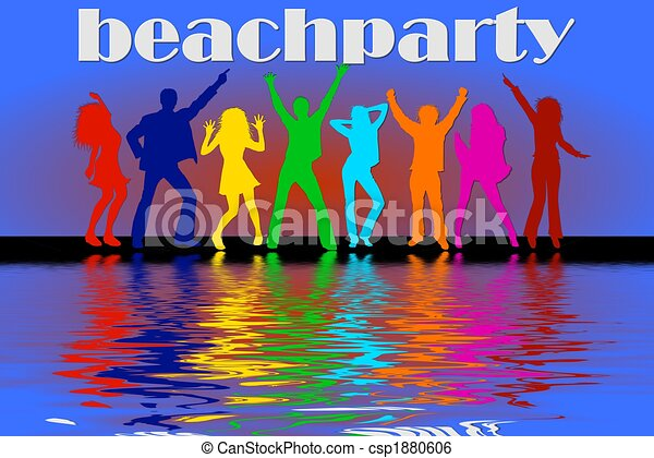 Stock Illustration of beach party csp1880606 - Search Clip ...