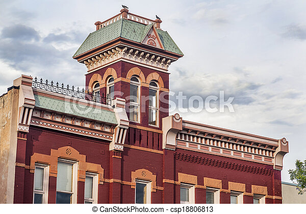 historic firehouse in Fort Collins - csp18806813