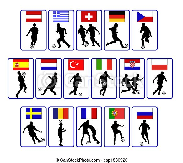 european soccer flags - csp1880920