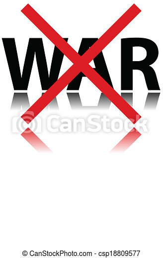 NO WAR sign - csp18809577