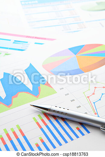 Data chart and pen - csp18813763