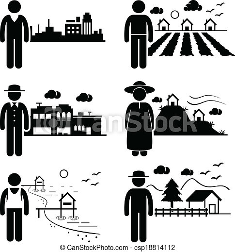 People Living in Different Places - csp18814112
