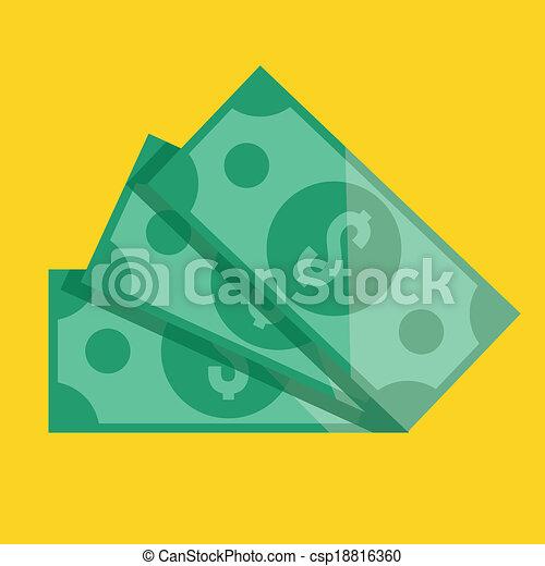 dollar bill icon vector Vector - Vector Dollar BillsDollar Bill Icon Vector