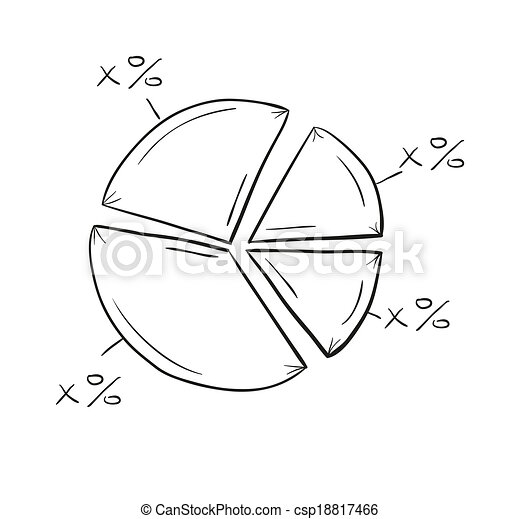 sketch of the pie chart - csp18817466