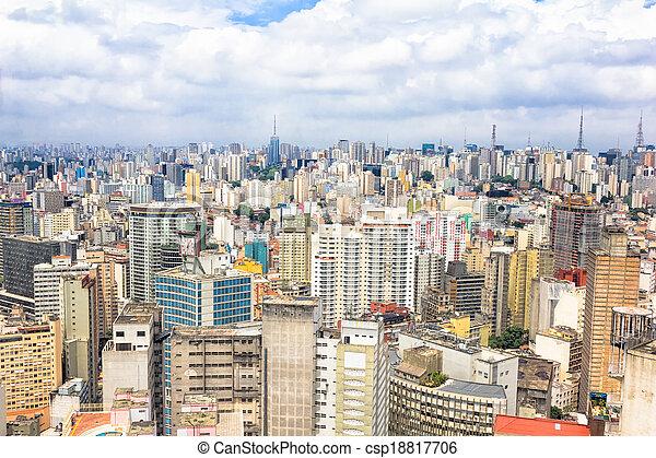 Aerial view of Sao Paulo, Brazil - csp18817706