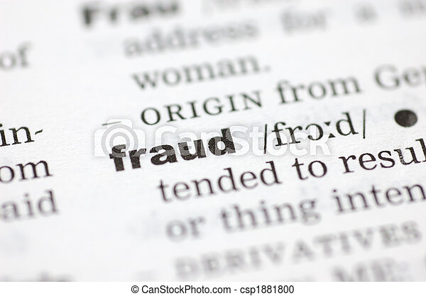 Definition of fraud - csp1881800