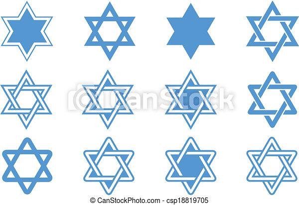 Star of David. Vector illustration. - csp18819705