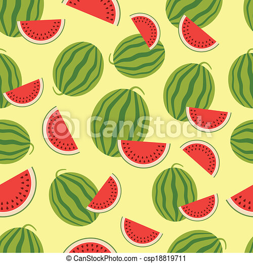Watermelon seamless background. - csp18819711