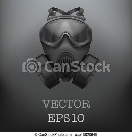 Background of Military black gasmask vector - csp18820648