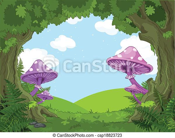 Fantasy landscape - csp18823723