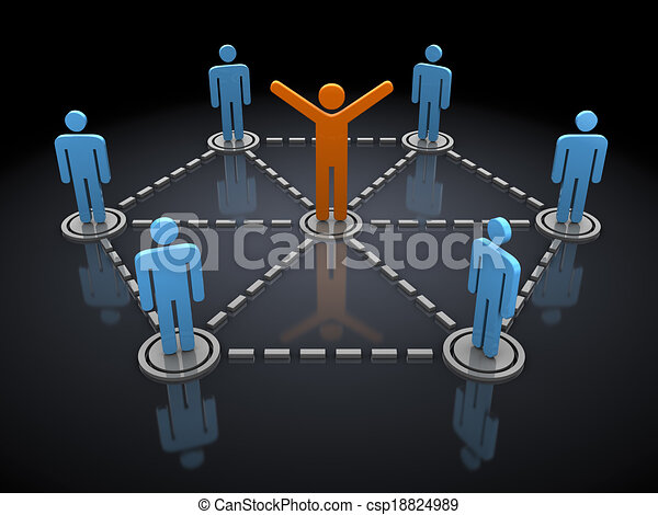 social diagram - csp18824989