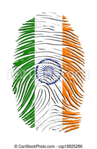 índia, impressão digital - csp18825286