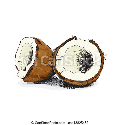 how to cut a white coconut