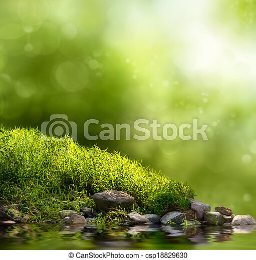 Green nature background - csp18829630
