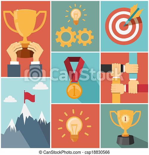 achieving goal success concept - csp18830566