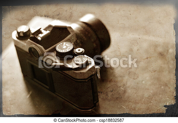 Old Camera and Lens for Photography