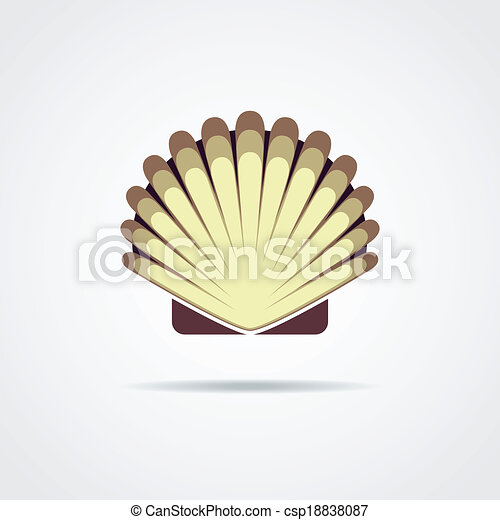 Shell vector symbol isolated on a white background - csp18838087