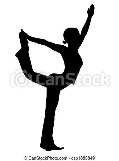yoga silhouette - csp1883849