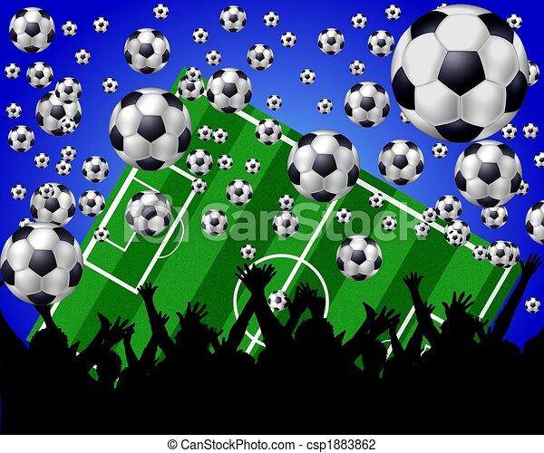 soccer fans background - csp1883862