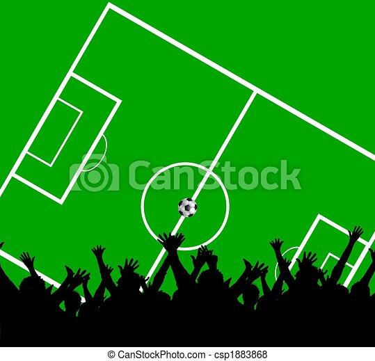 soccer fans background - csp1883868