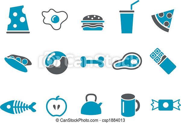 Food icon set - cs
